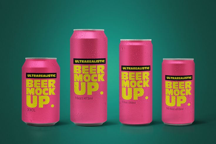This Clean Beer Can Pack Mockup Is Great To Present Your Designs Includes Easy Smart Object Mobile Items 8 Final Beer Can Beer Logo Mockup