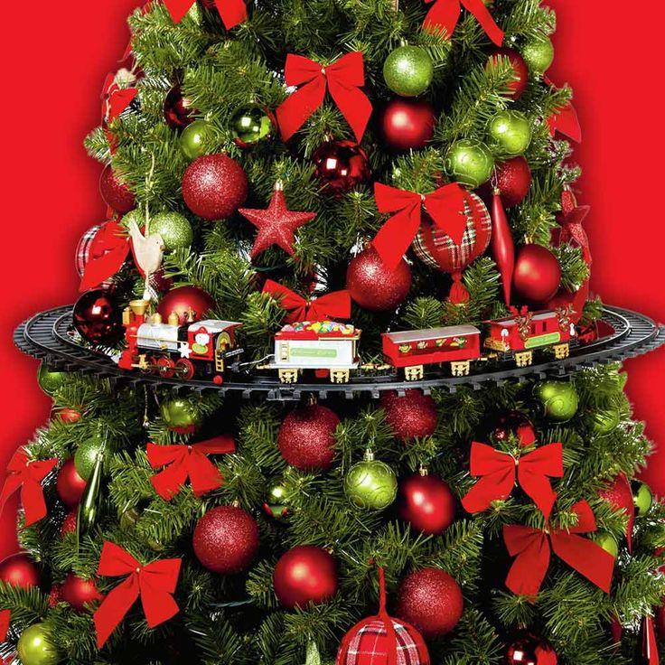 Tree Train  Kersttreintjes onder de boom is zo 2015. .Met deze Tree Train heb je het leukste kersttreintje OM je boom heen! Deze kersttrein past om bijna elk boom en rijd vrolijk rond met zijn kerstmuziek! Creëer een nieuwe kerstsfeer en look met deze must-have kerstgadget! Ook te bouwen op de grond.  EUR 59.95  Meer informatie