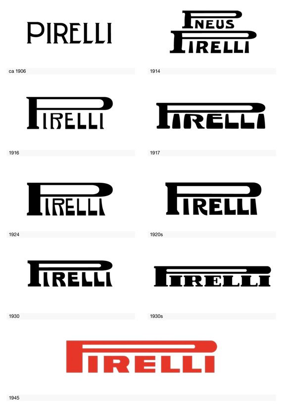 Pirelli logo from Logo Life: The Visual Evolution of 100 Iconic Logos