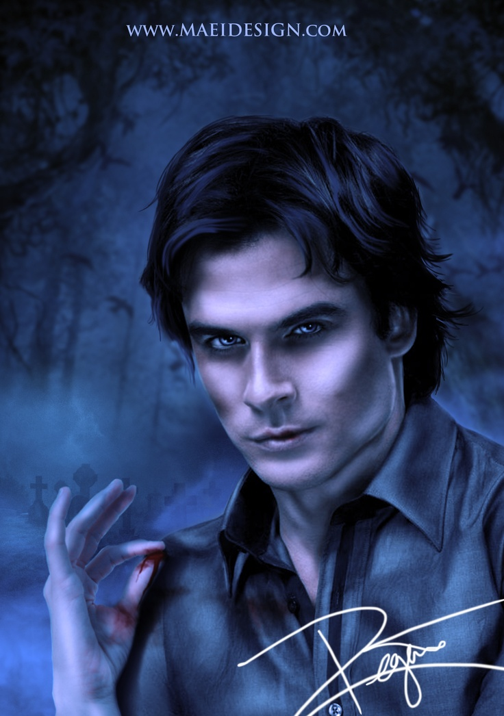 23 best ian somerhalder dessin images on pinterest damon - Vampire diaries dessin ...