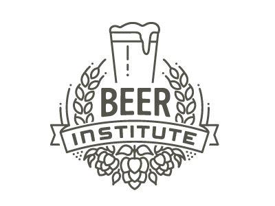 Beer Institute. Graphic hops, barley & banner use