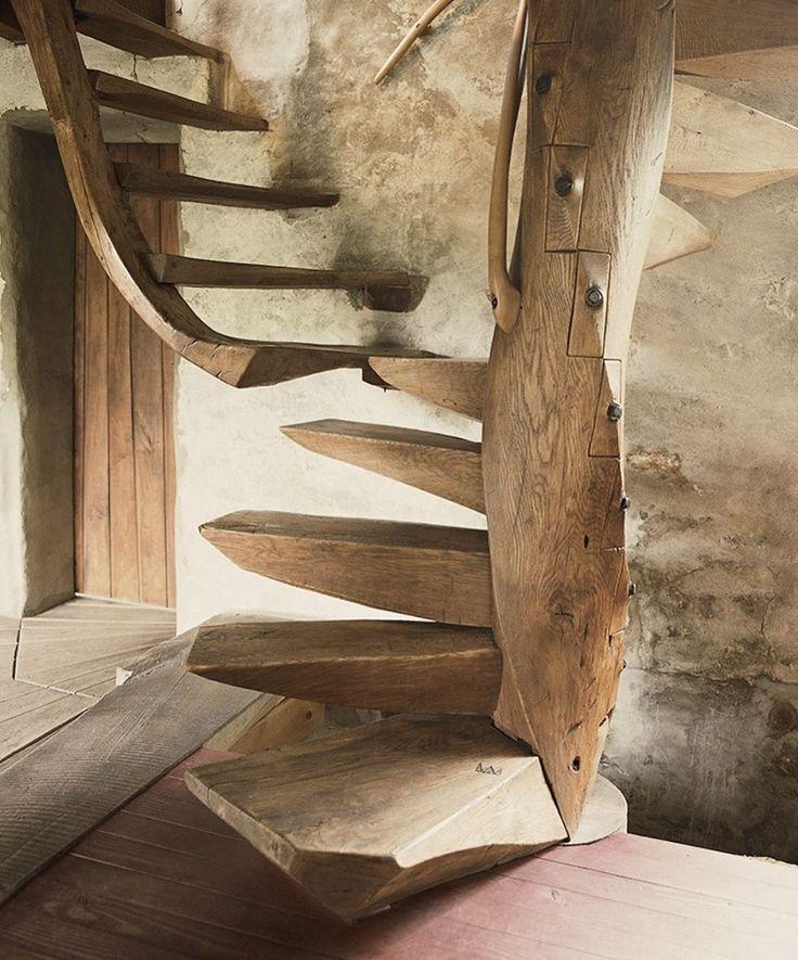 "SLOW ROADS on Instagram ""Wharton Esherick Spiral Stair"