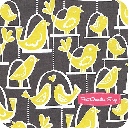 Michael Miller fabric, Citron Grey collection
