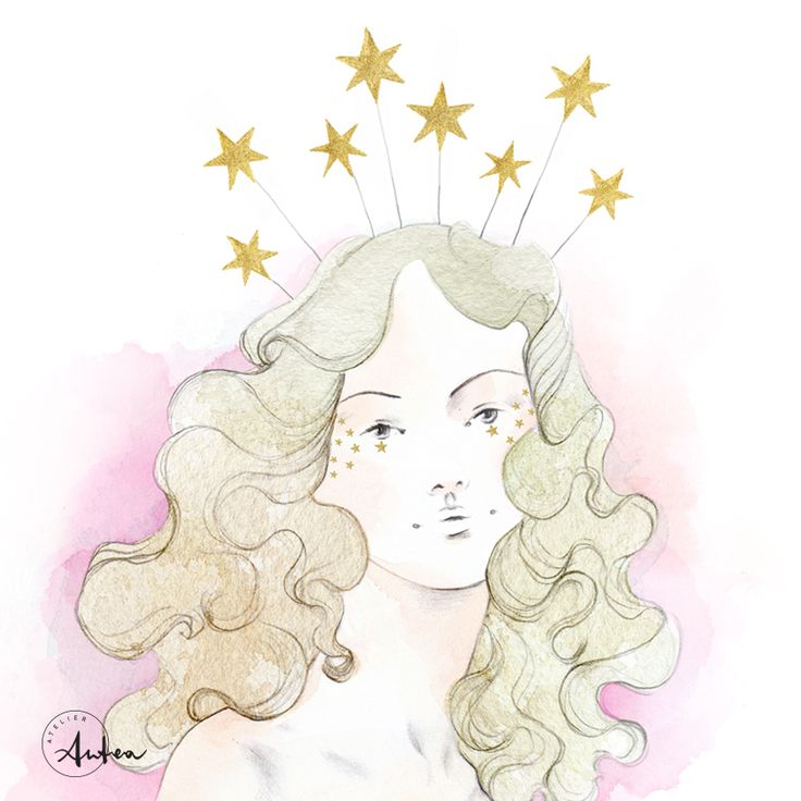 Dior Couture Starry Girl illustration by Camilla Locatelli