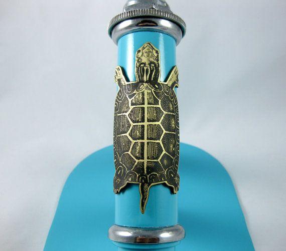 Tortoise - head badge, bicycle badge, bike badge, bicycle accessories, bike accessories, turtle art, tortoise shell, etched brass, bike art