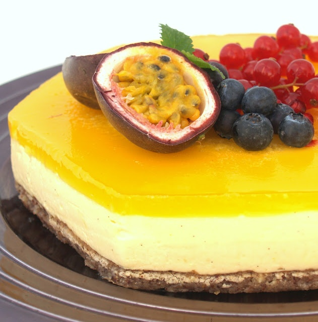 Pasjonsfrukt ostekake - passionfruit cheesecake