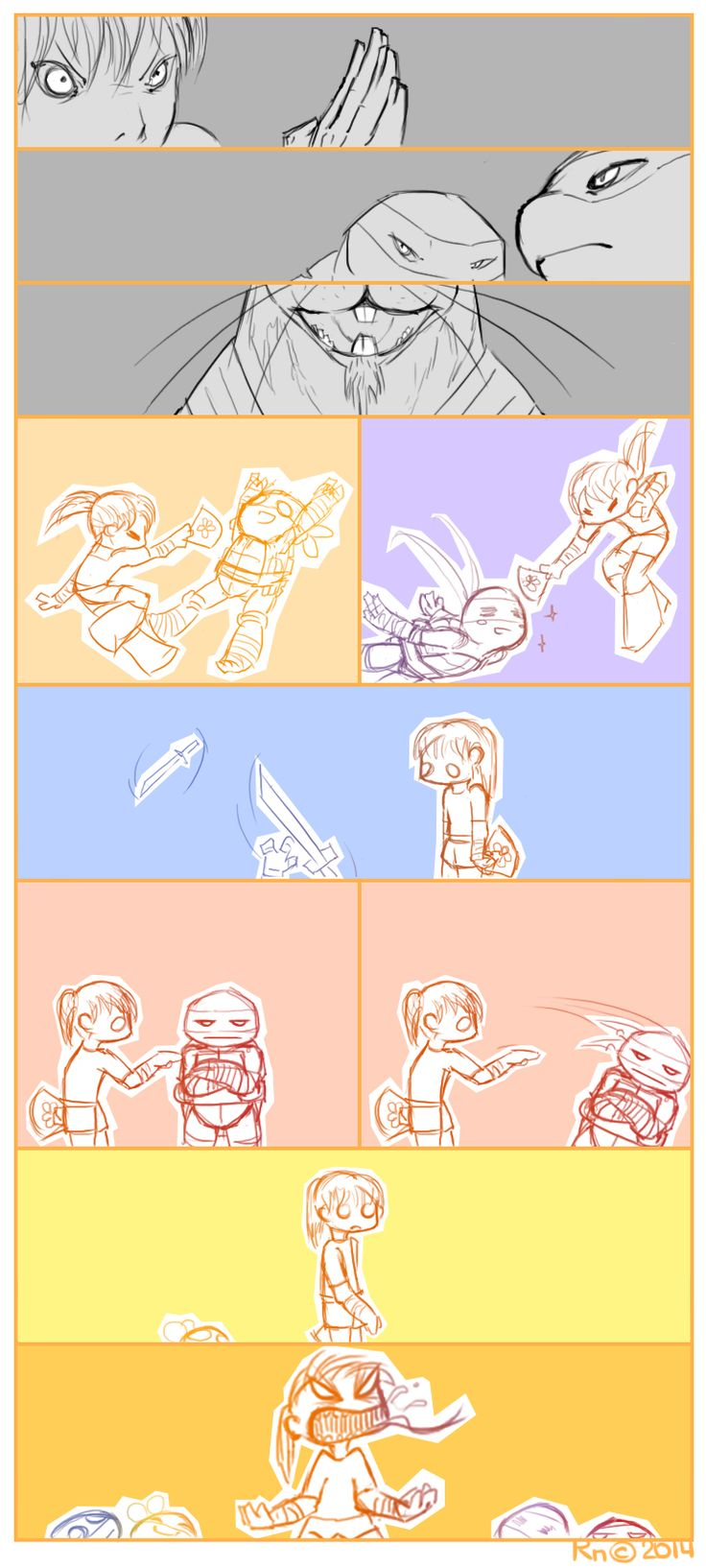 April training with the turtles TMNT Falling10 by RuslanaN on DeviantArt