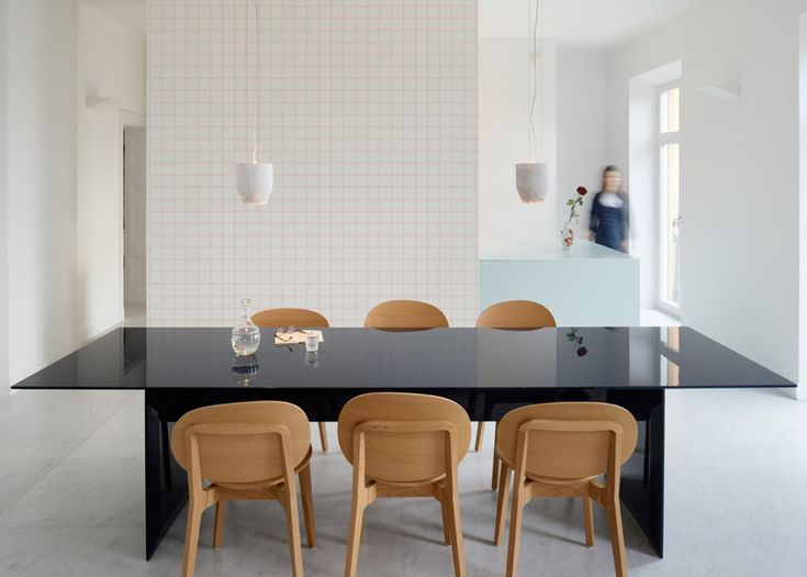 Swedish architecture and design studio Claesson Koivisto Rune designed a wallpaper collection influenced by the shapes and patterns found in Modern architecture