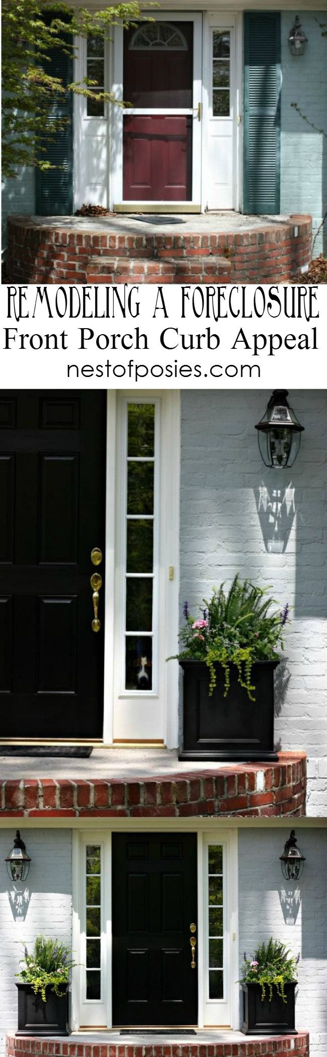 Remodeling a Foreclosure. Front Porch Curb Appeal