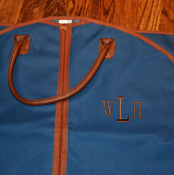 Love this shop! Great service, great bag. Personalized Men's Garment Bag Monogrammed Hanging by MJMonograms