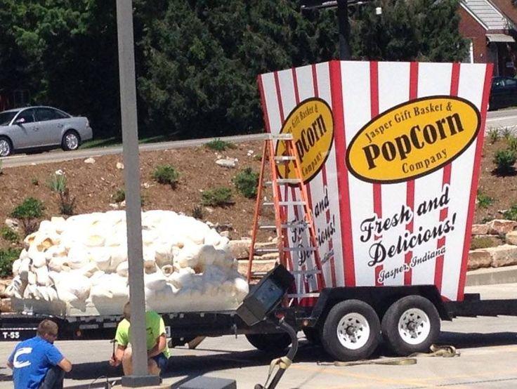 World's 'tallest popcorn box' standing tall in Jasper - 14 News, WFIE, Evansville, Henderson, Owensboro