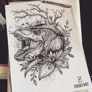 T rex by strange dust