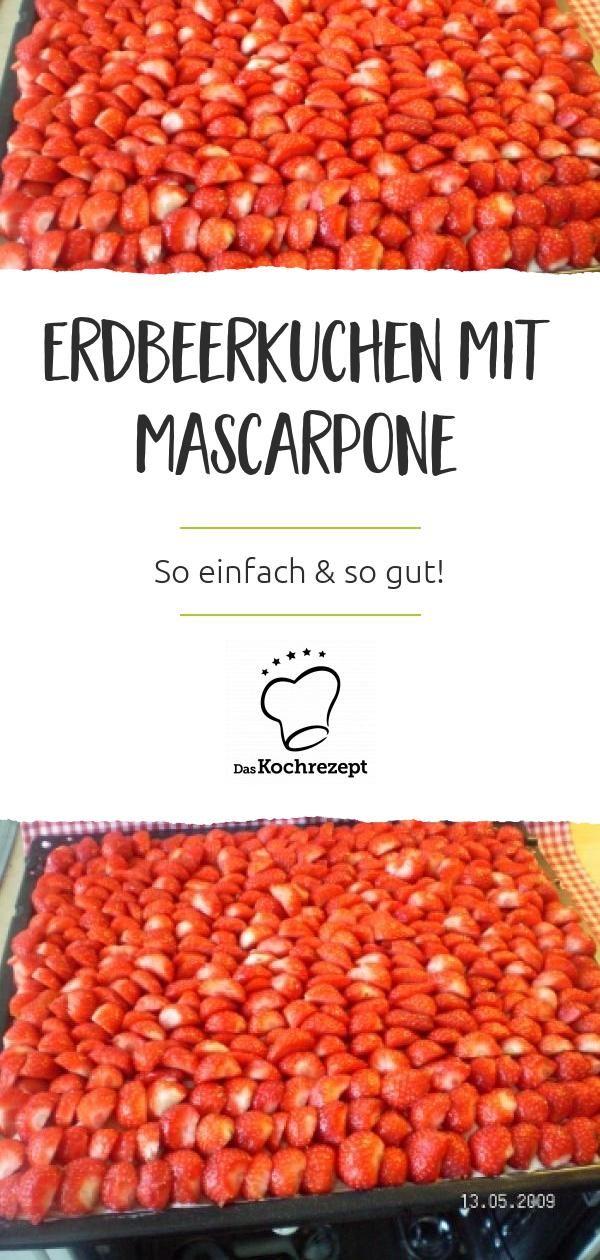 Erdbeerblechkuchen mit Mascarpone