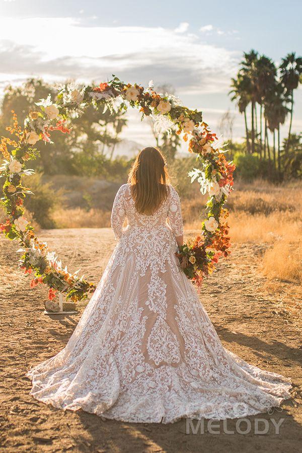Chapel Train Tulle Gothic Wedding Dress