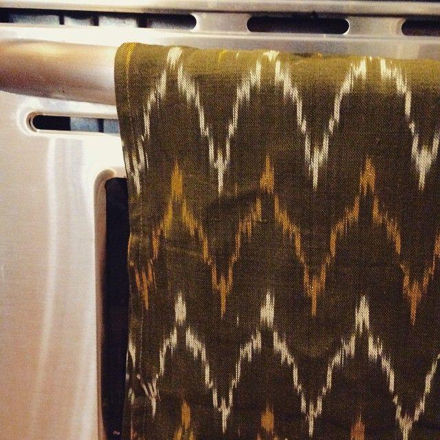 #inthekitchen #cooking #ikat #handloom #teatowels #dishtowels #rusticloom #textiles #brooklyn