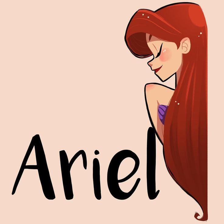 Un poco #doodle antes de salir del trabajo.  #thelittlemermaid #ariel #drawing #girlsinanimation