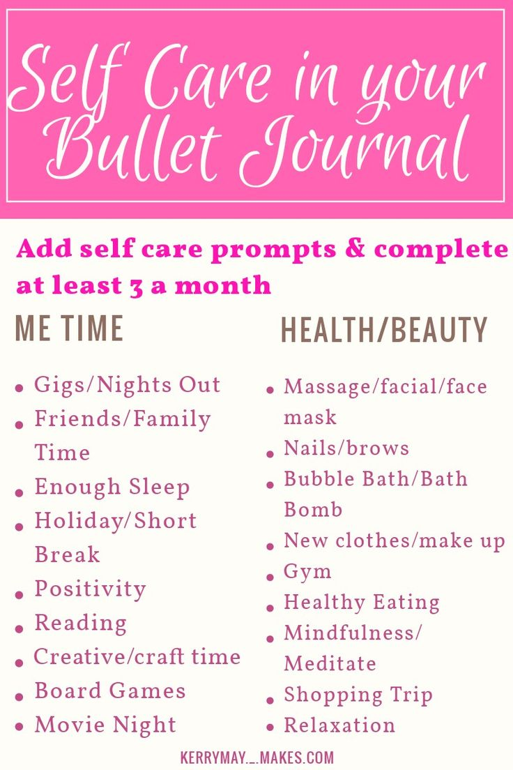 Self care in your bullet journal and Bujo mood tracking ideas - Kerrymay._.Makes