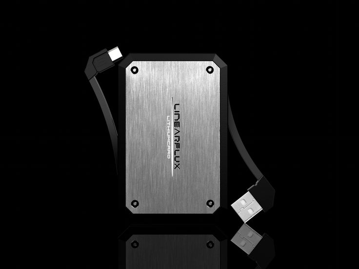 LithiumCard PRO - HyperCharging Evolved : The next evolution of the HyperCharger by LinearFlux. More Power & Capacity! Same credit-card size of the original LithiumCard!