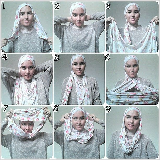 Day1 - This style, well, I didn't quite get it right. Didn't follow it to a T, but did pick up the idea of 2 scarves - especially with tying the 2nd scarf from the front. Didn't use any pins or needles, which is why perhaps it stayed on only during the first half of the day. Oh well, it's a start! ^_^