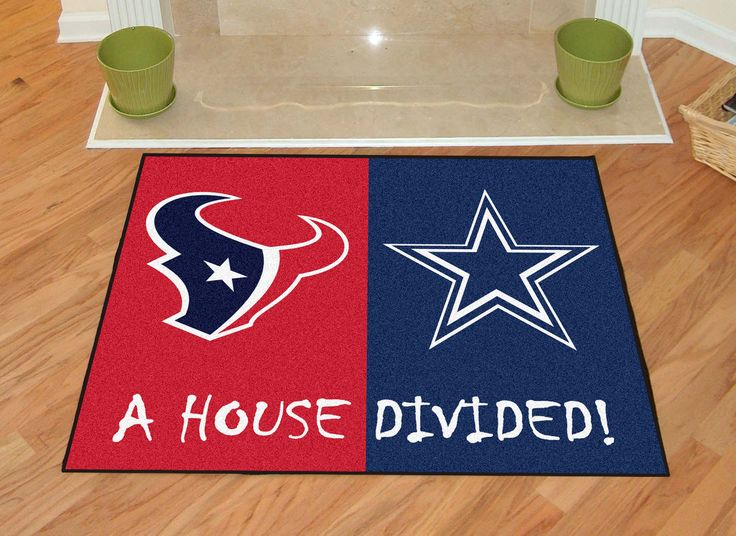 Houston Texans-Dallas Cowboys House Divided Rugs