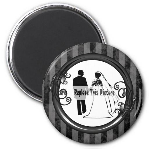 http://www.zazzle.com/black_grey_dark_vintage_frame_refrigerator_magnets-147550912969284789?rf=238523064604734277 Black Grey Dark Vintage Frame Refrigerator Magnets - This round magnet has a black and grey striped, grunge background which looks faded and old. Place your name or picture inside the shiny black frame with leaves and swirly vines growing from it. This would make a nice gift, keepsake or memento for fathers day, mothers day for a best friend, grandparents, or family and friends.