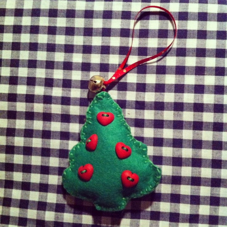 Home made Tree hanging decoration for your Christmas Tree. Visit http://www.facebook.com/KittyAndTiz to find out how to buy