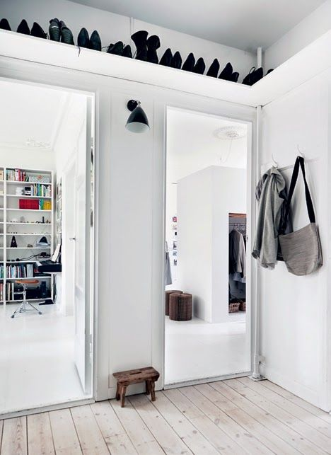 The cool home of a Danish architect - storage!! Photographer: Mikkel Adsbol.