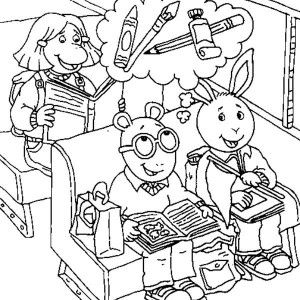 Arthur Binky Barnes Eat A Lot Of Food In Coloring Page Tamiya Car Racing Baby Kate Read Is Youngest Sister