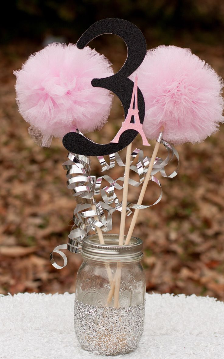 Paris Party Pink, Black and Silver Eiffel Tower Centerpiece Table Decoration by GracesGardens on Etsy https://www.etsy.com/listing/223162336/paris-party-pink-black-and-silver-eiffel