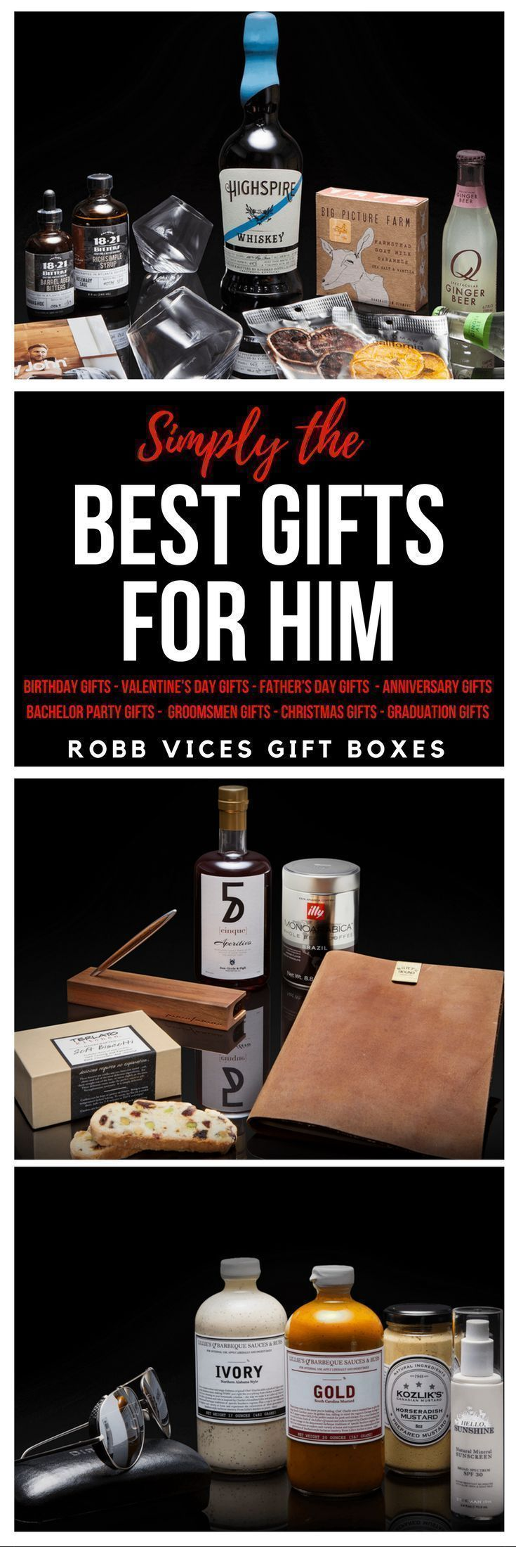 The PERFECT Gift for Him!  Robb Vices Specialty Gift Boxes!  Gifts for Him | Gifts for Dad | Gifts for a Man | Gift for Brother | Groomsmen Gifts | Grooms Gift | Bachelor Gift | Christmas Gift for Him| Birthday Gift for Him| Father's Day Gift | Valentine's Day Gift for Him  | Graduation Gift for Him | New Dad Gift | Gift for Boyfriend | Anniversary Gift for Him | affiliate #groomsmengifts