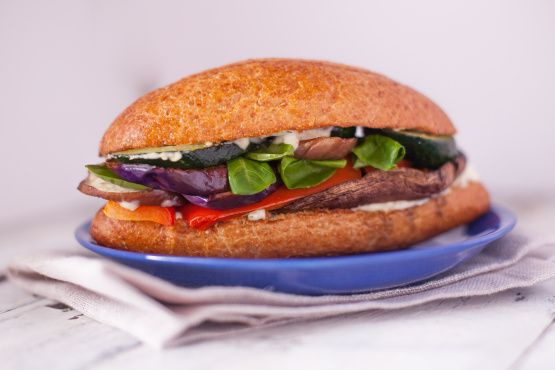 An awesome hearty no-meat sandwich for all the veggie lovers out there.