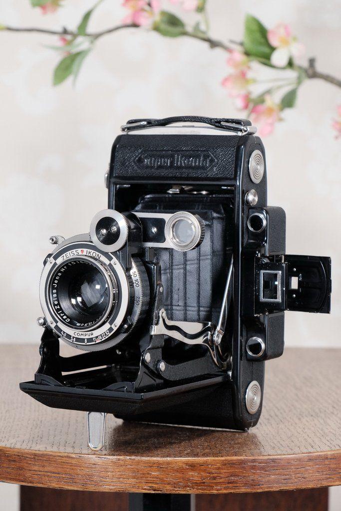 Superb 1934 Zeiss Ikon Super Ikonta 6x9 Tessar Lens Cla D Freshly Petrakla Classic Cameras Classic Camera Canon Camera Models Dslr Accessories