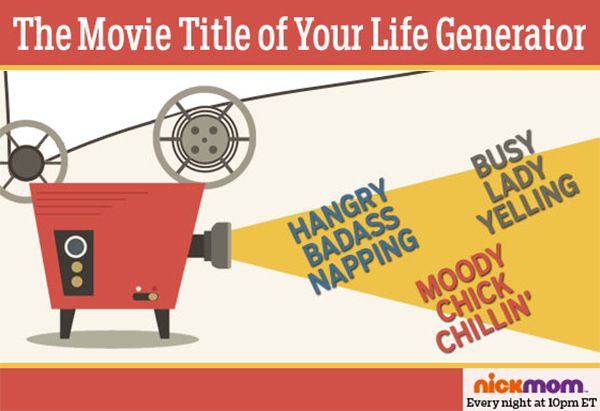 What movie title is your life? Use the generator!
