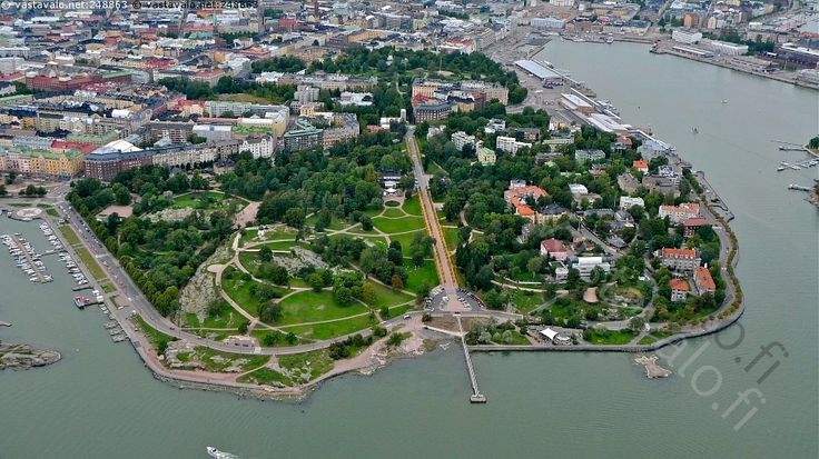 Kaivopuisto - Helsinki Kaivopuisto Ullanlinna Ehrenströmintie puisto kaupunki kaupunkimaisema ilmakuva ilmavalokuva