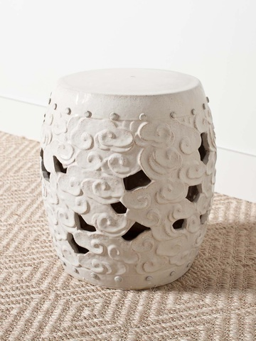 #TAIGANHOLIDAY CHINESE.   2012.  Handmade ceramic stool is perfect as a drinks table or extra seating in either your home or garden!H  18.00  W  16.00  D  16.00
