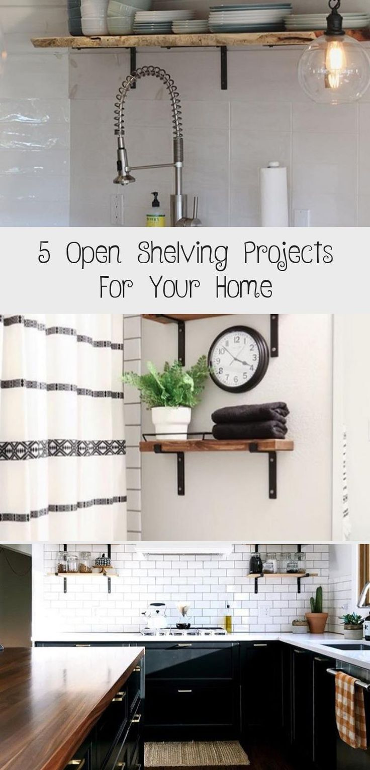 5 Open Shelving Projects For Your Home   – Decor