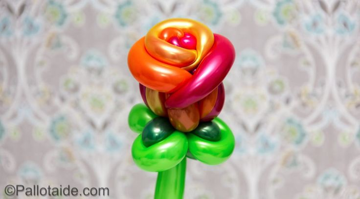 multicolor rose - 100% latex balloons
