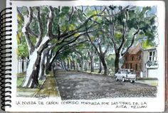 El 23 de junio, los Croquiseros Urbanos de Buenos Aires , visitamos el barrio Belgrano R.        Imagen de la Avda Melian , en Belgrano R. ...