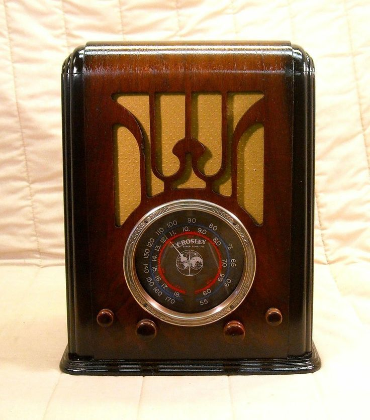 Old Antique Wood Crosley Vintage Tube Radio Restored Working Classic Tombstone | eBay