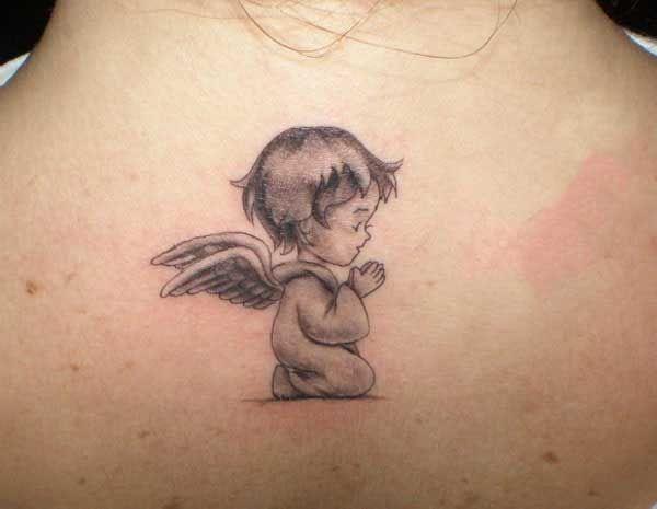 dua eden bebek melek dövmesi