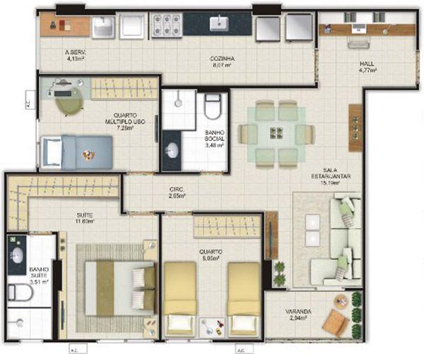 25 best ideas about planos de casas peque as modernas on for Planos de cocinas pequenas modernas