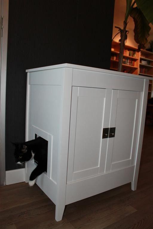 Zo ben je het aanzicht van de kattenbak kwijt EN heb je zelf wat extra ruimte!