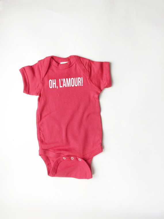 Cute Onesie Oh L'Amour 80's band shirt