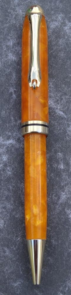 Hand made Crushed Velvet European style Pen (Orange) £12.95