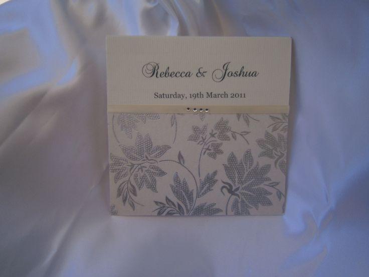 """Lili"" Wedding Invitation https://www.facebook.com/LuPerlaInvitations"
