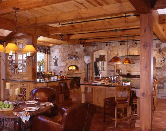 Brick Timber Frame Homes : Best images about timber home kitchens on pinterest