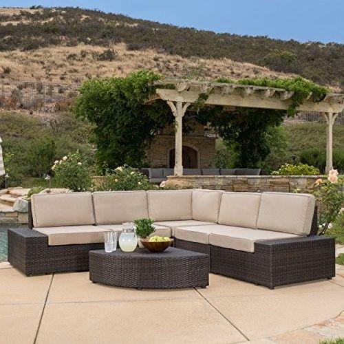 Outdoor-Garden-Patio-Furniture-6-Piece-Sectional-Sofa-Set-Cushions-Decor-NEW