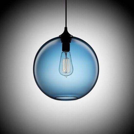 60W Modern Glass Pendant Light in Round Brown Bubble Design | Home ...