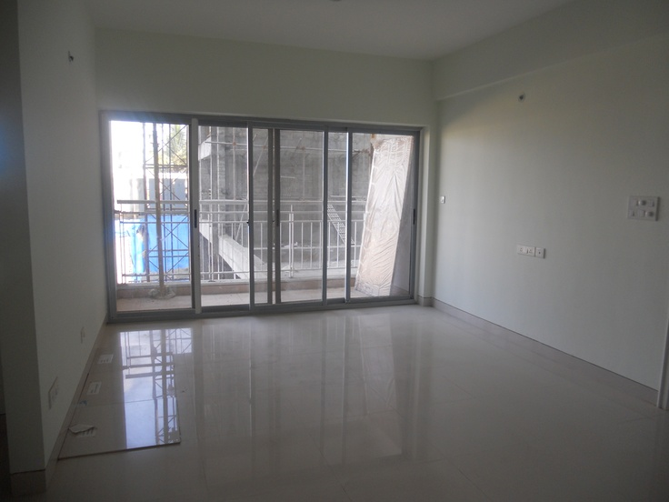 BREN Celestia G +5 suite of 2 / 3 BHK Flats on Sarjapur Road, Model Flat -  Living Room with French Window and Balcony
