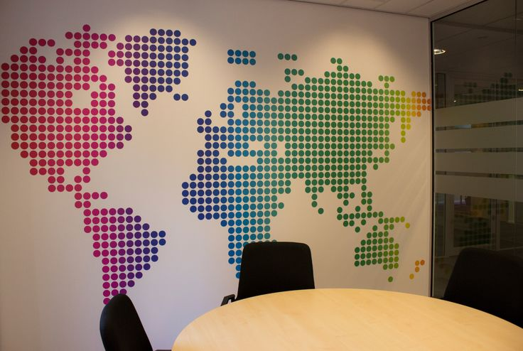 16 best images about office with world map theme on pinterest for Environmental graphics giant world map wall mural